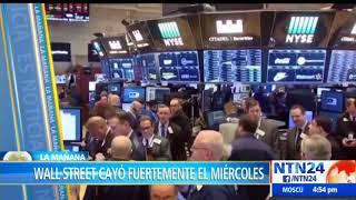 Incertidumbre en la economía mundial ante la caída del Wall Street