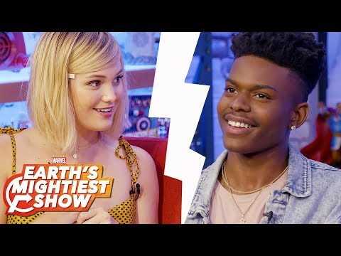 The Newly Paired Game w Olivia Holt and Aubrey Joseph  Earth's Mightiest