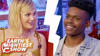 The Newly Paired Game w/ Olivia Holt and Aubrey Joseph | Earth's Mightiest Show