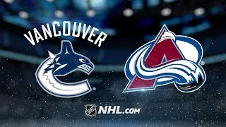 Baertschi scores twice as Canucks top Avs, 3-2