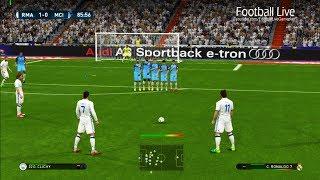PES 2017 | Real Madrid vs Manchester City | C.Ronaldo, G.Bale Free Kick Goals & Full Match