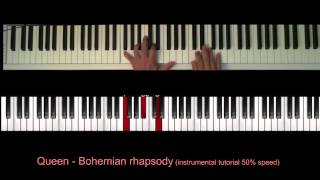 Piano accompaniment tutorial , part1st part : with freddie mercury vocal (100 % speed)2d 50 speed http://youtu.be/jz9argndq...