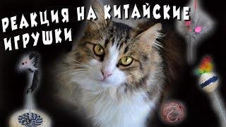 Реакция наших кошек на китайские игрушки   Никак не ожидали...