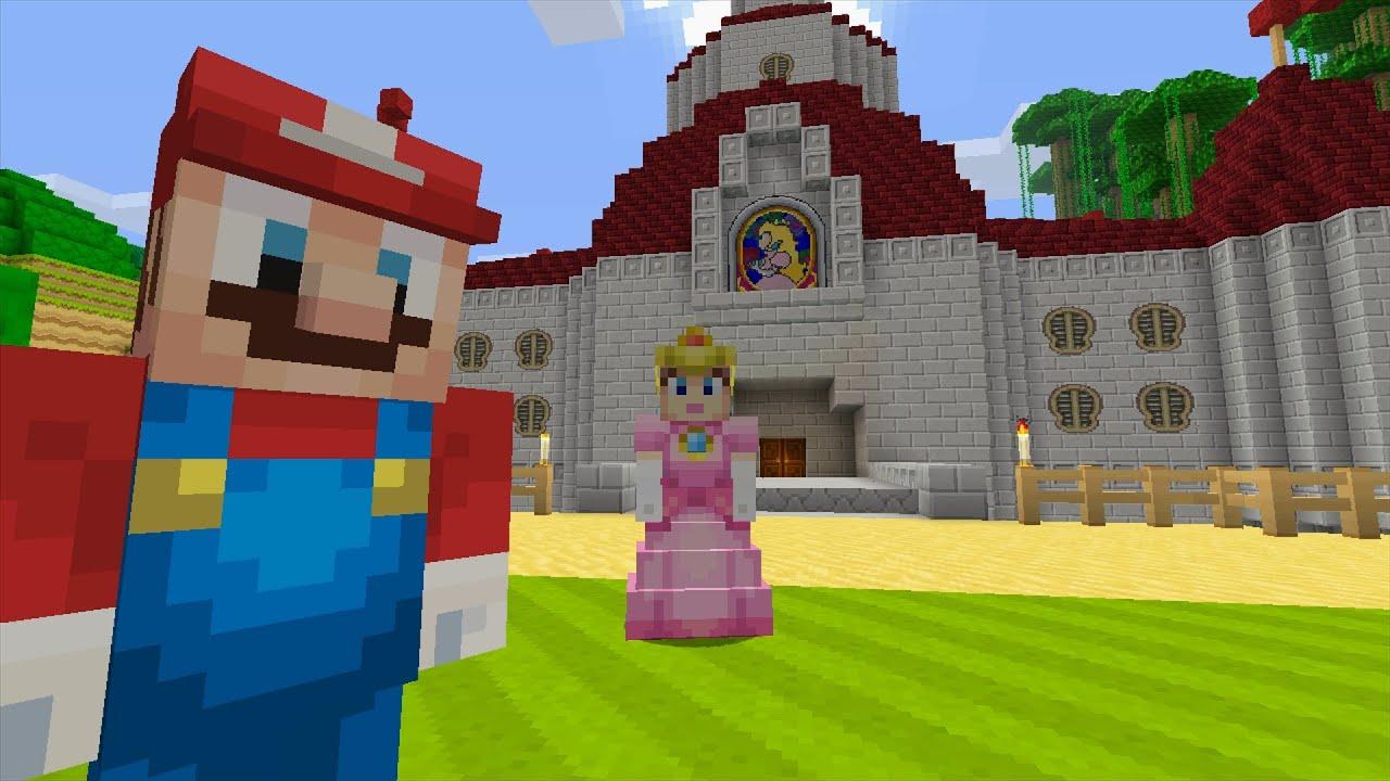 Minecraft Wii U Super Mario Series Bowser Attacks YouTube - Minecraft mario spiele