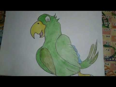 how to draw simple bird drawing   mv drawing