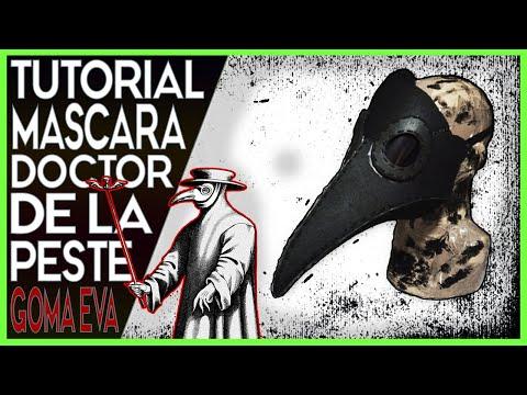 Tutorial: MASCARA de Doctor de la PESTE con PLANTILLAS - PLAGUE DOCTOR MASK TEMPLATES - Goma EVA