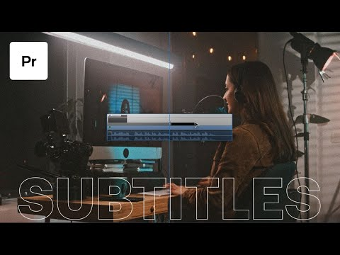 How To Create Subtitles In Premiere Pro  How To Create Captions Tutorial