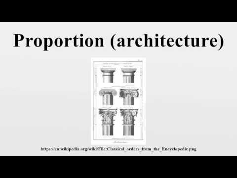 Proportion (architecture)