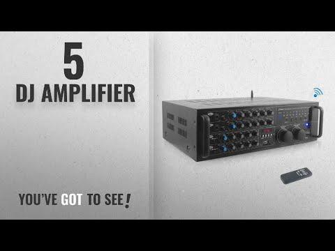 Top 10 Dj Amplifier [2018]: Pyle PMXAKB2000 - 2000 Watt DJ Karaoke Mixer and Amplifier with Built-in