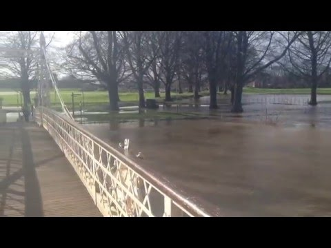 The River Wye in flood - February 2016