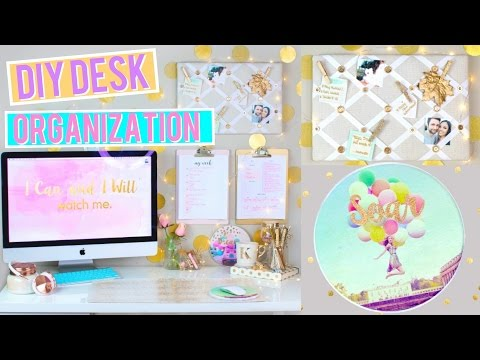 DIY Desk Organization and Decor! Pinterest + Tumblr Inspired!! | Kristi-Anne Beil