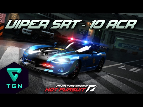 Need for Speed Hot Pursuit: Dodge Viper SRT-10 ACR Cop   Version policia