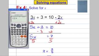 Solving Equations (x on both sides)