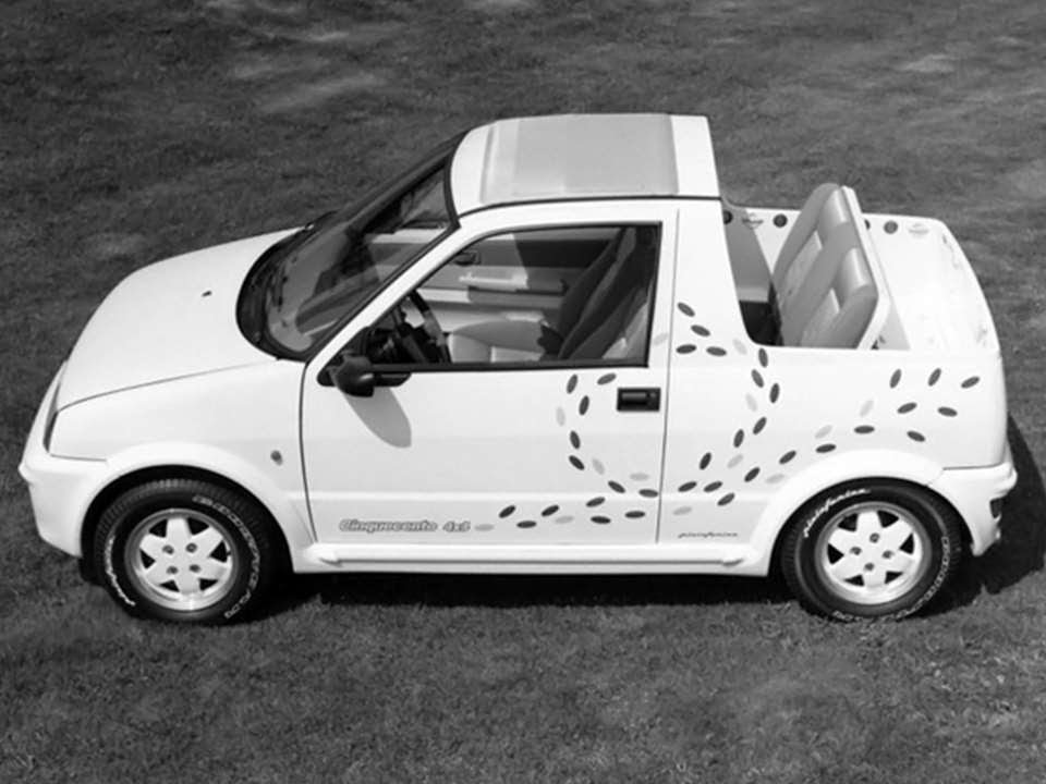 1769 fiat cinquecento 4x4 pick up 1992 prototype car. Black Bedroom Furniture Sets. Home Design Ideas