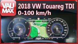 2018 فولكس فاجن طوارق 3.0 V6 TDI 286PS Beschleunigung 0-100 كم/ح / Tachovideo / التسارع من 0-60 ميل في الساعة