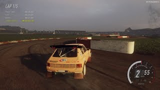 DiRT Rally 2.0 - Peugeot 205 T16 Rallycross - Silverstone RX Gameplay [4K 60FPS]