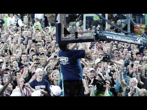 Utah State Basketball - 2009-10 WAC regular season title celebration (Part 2/2)