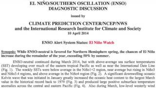 El Niño in 2014 - Will we have one?