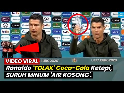 VlRAL Ronaldo 'Tolak' Coca Cola EURO 2020 Press Conferences.
