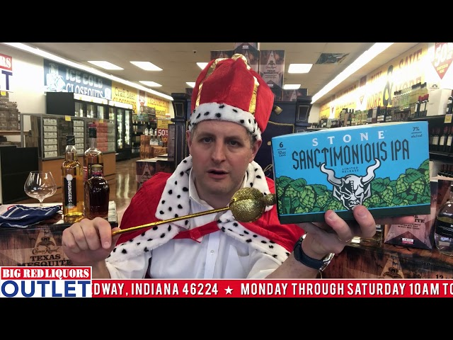 Stone Sanctimonious IPA at the Big Red Liquors Outlet Store.
