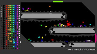 Collect the Stars of All Colors - Marble Race in Algodoo