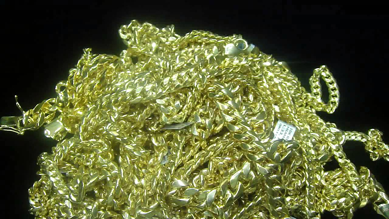 gold chain plated mm franco jewelry k yellow hip hop real mens chains caymancode