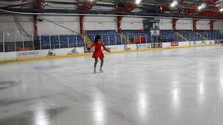 Figure skating training at Gillingham ice rink.