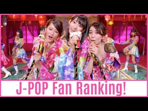 J-POP Girl Group Fan Ranking! (2016)