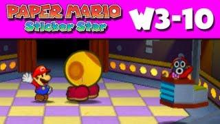 Paper Mario Sticker Star - W3-10 - Stump Glade (Nintendo 3DS Gameplay Walkthrough)