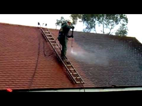 Nice Roof Cleaning In The UK   Cleaning Moss From Concrete Tiles By Great  Outdoors And In Ltd   YouTube