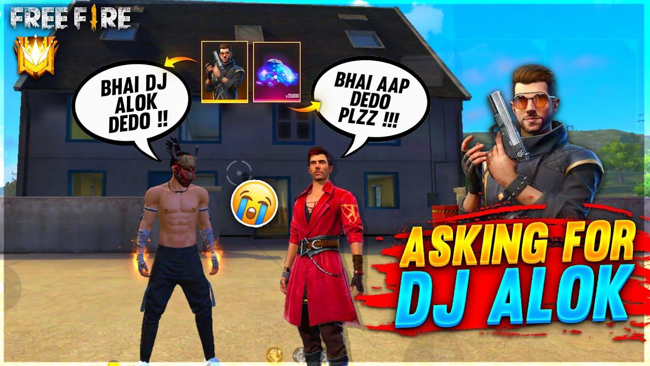 Asking For Dj Alok From Random Player Funny Prank😂 I Gave Him Dj Alok & Diamond-Garena Free Fire
