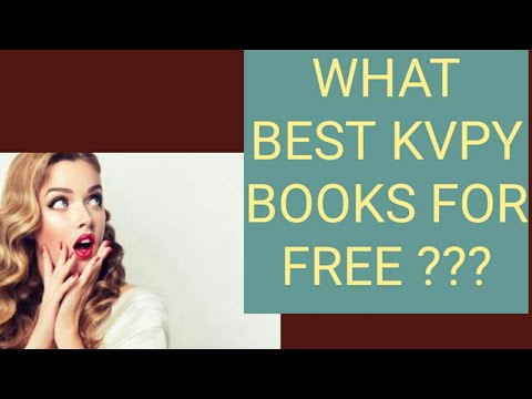 WHAT KVPY BOOKS FOR FREE?? (ALL STREAMS)|KVPY2021|BEST GUIDES FOR FREE ??