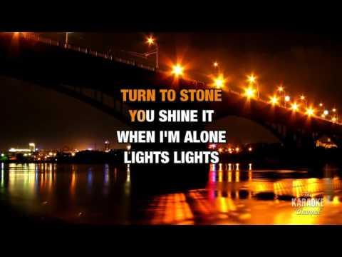 Lights in the style of Ellie Goulding | Karaoke with Lyrics