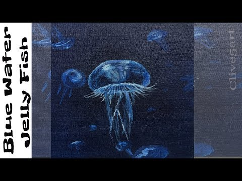 Easy First Acrylic Painting:Jelly Fish