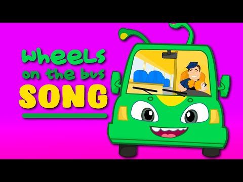 Groovy The Martian & Phoebe sing Wheels on the bus song! The funniest nursery rhymes!
