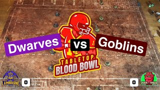 Tabletop Blood Bowl 2020 - Dwarves vs Goblins!!
