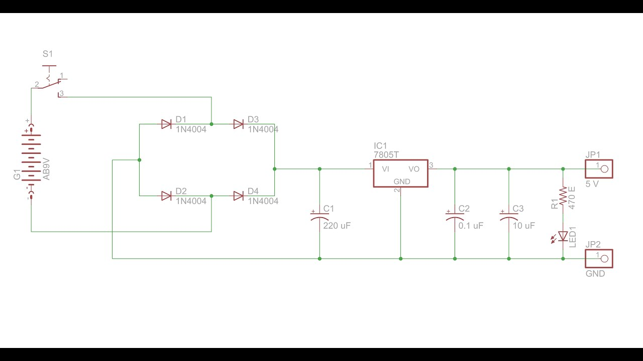5V DC Power Supply Circuit Design Using Eagle Part I YouTube