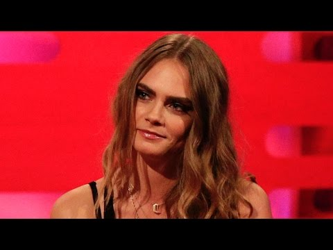 Cara Delevingne's famous eyebrows - The Graham Norton Show: Series 17 Episode 11 - BBC One