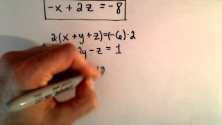 system of 3 equations 3 unknowns using elimination ex 2