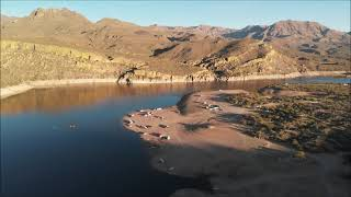 Aerial View of Bartlett Lake Reservoir Tonto National Forest Maricopa County Arizona in Feb 2021