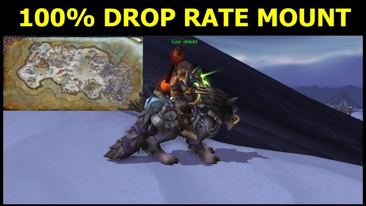 [World Of Warcraft] 100% Mount Drop (Garn Nighthowl) From Open World Raid  Boss Nok Karosh