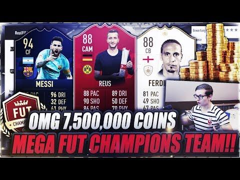 FIFA 19: MEIN NEUES 7.500.000 COINS FUT CHAMPIONS TEAM!! 🔥🔥 FIFA 19 Ultimate Team Weekend League