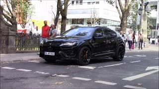 Lamborghini Urus drive around in Düsseldorf
