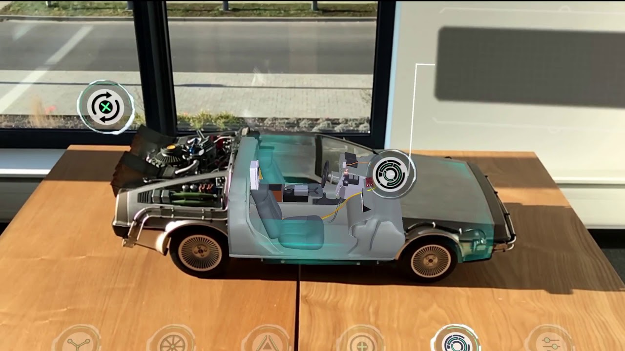 DeLorean Augmented Reality Configurator - YouTube