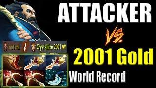 World Record! - Get 2001 Gold form Killing Enemy - Attacker Kunkka x2 Divine in 3 min Dota 2