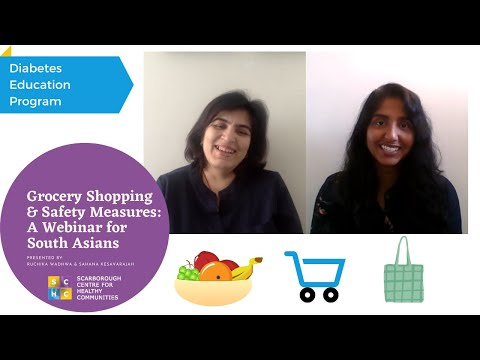 Grocery Shopping & Safety Measures: A Webinar For South Asians   SCHC Diabetes Program