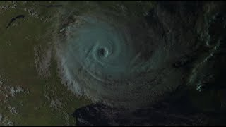 L'oeil du cyclone tropical IDAI sur le Mozambique