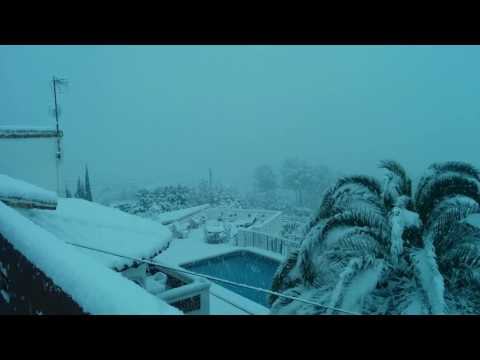 Mediterranean Snow, strange weather (Spain 2017)