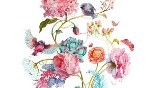 How to paint flowers with watercolor / Как рисовать цветы акварелью(TOLUZAKOVA.com This video contains the process of painting flowers, such as: ranunculuses, peonies, roses, hypercuim berries, silver lace dusty miller, ..., 2015-05-01T13:58:01.000Z)