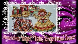 Dimensions Angel Train Gingerbread House ОТ обзора ДО готовой